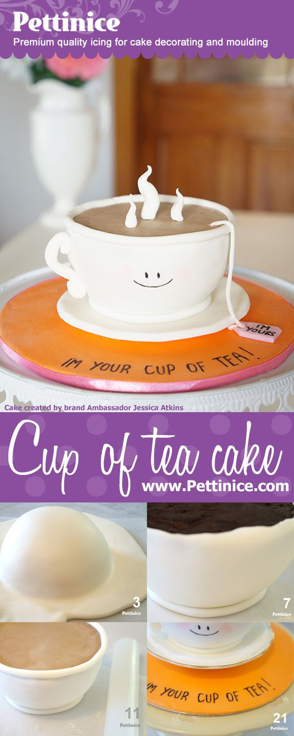 "How to make a 6"" round 3D cup of tea cake with Pettinice Brand Ambassador Jessica Atkins of Rosy Cakes."