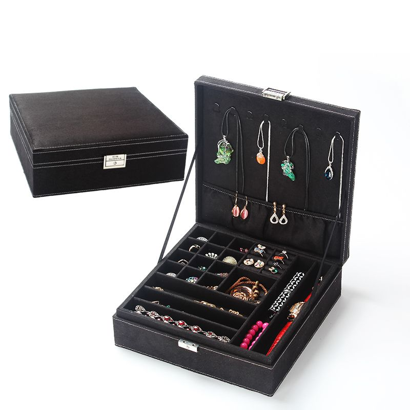 Fashion New Wedding Birthday Gifts Large Jewelry Organizer Box