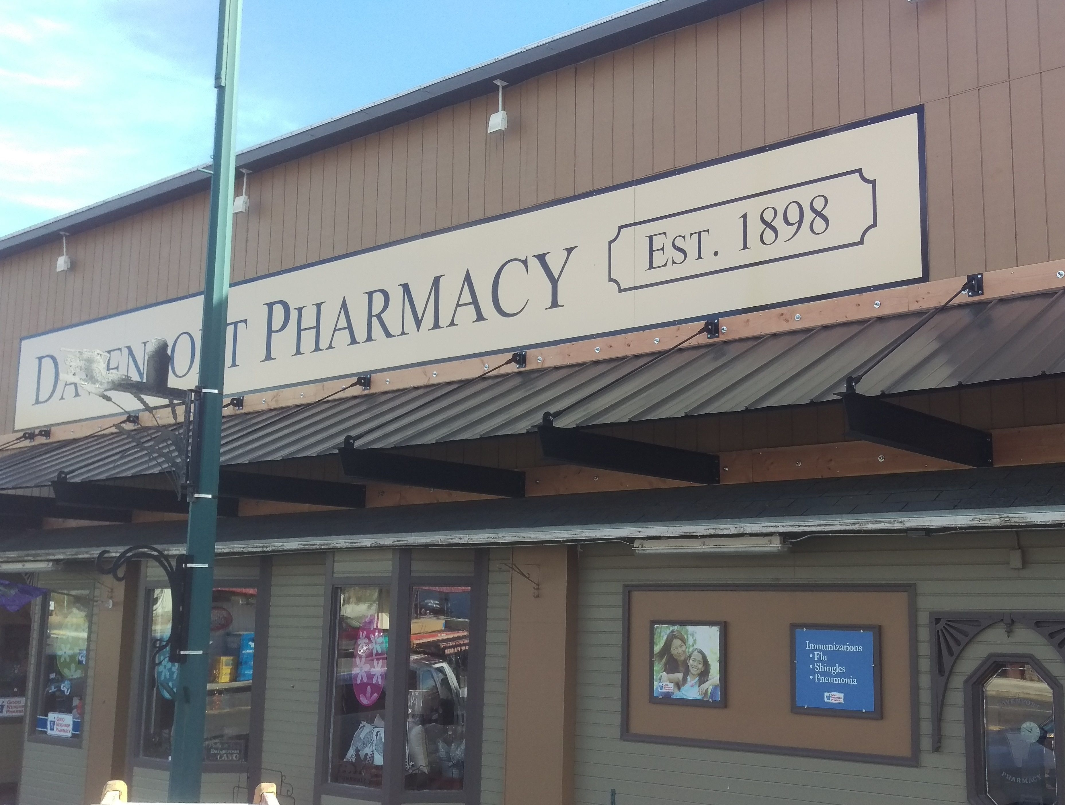 We Recently Finished Building And Installing New Aluminum Canopies For The Davenport Pharmacy These Canopies Were Built With St Pharmacy Canopy Frame