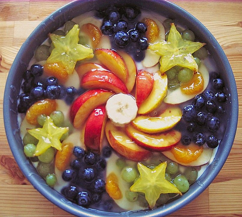 Joghurt Sahnetorte Mit Frischen Fruchten Von Cremehase Chefkoch Rezept Rezepte Sahnetorte Rezeptideen