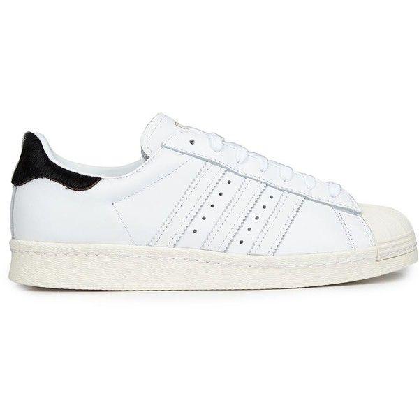 Donne Basso Sopra I Formatori Adidas Superstar Degli Anni '80 Basso Donne Originali Di Pelle Bianca c438e7