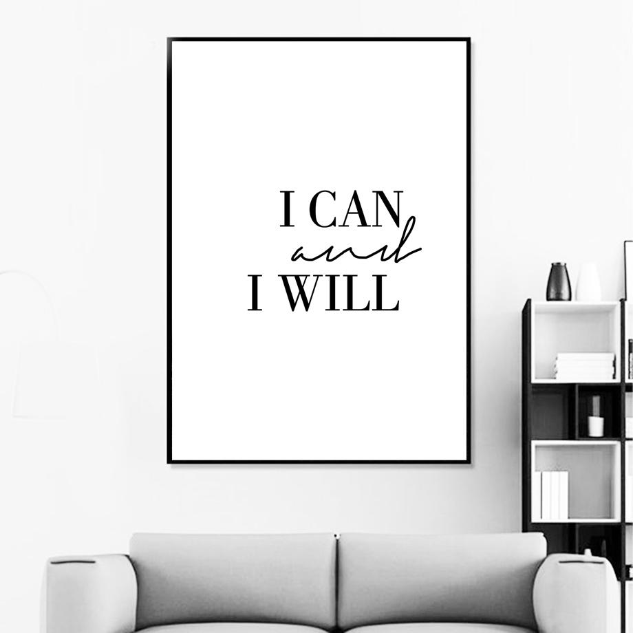 I Can And I Will Positive Affirmation Wall Art Pink Map Grey Marble Background Wall Art Quotes Bedroom Wall Art Quotes Wall Quotes Bedroom