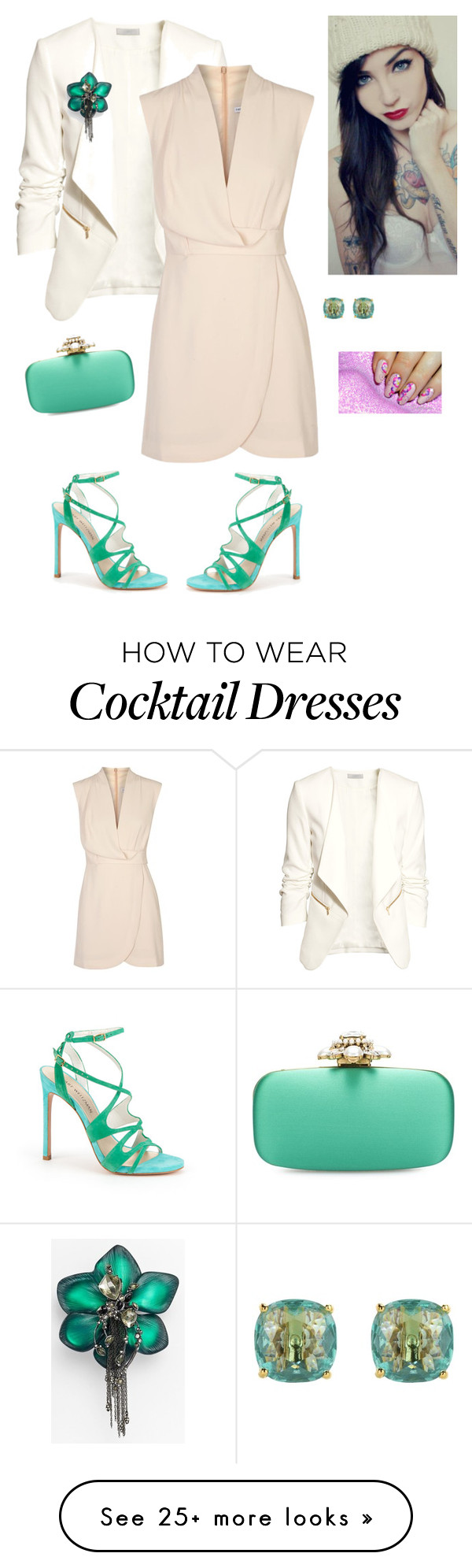 """""""Spring Green"""" by empresslal on Polyvore featuring H&M, Finders Keepers, Stuart Weitzman, Alexis Bittar, Kate Spade, Oscar de la Renta, fashionstyle, topstyle, uniquegirls and onlydreamers"""
