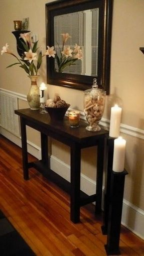 Unique Long Narrow Entry Table