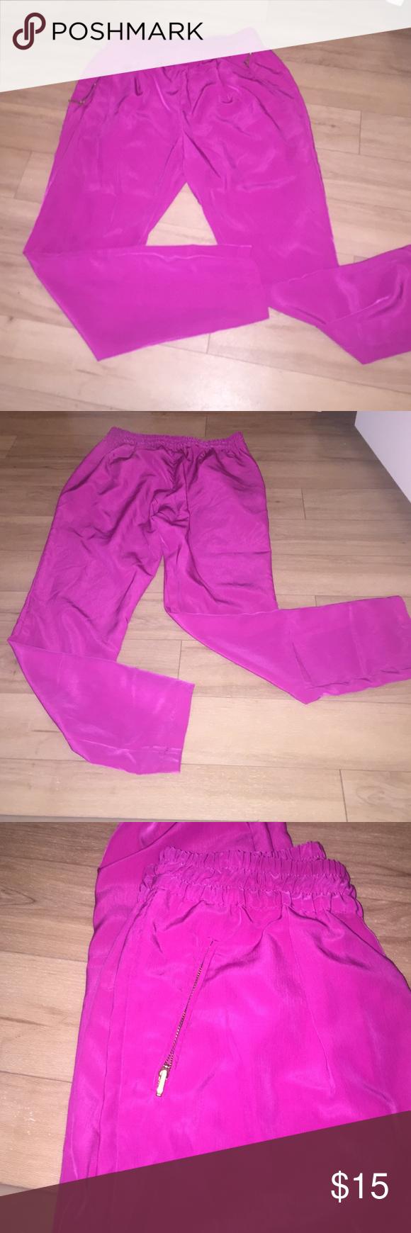 Zara pants Zara silky pants zipper front Zara Pants Trousers