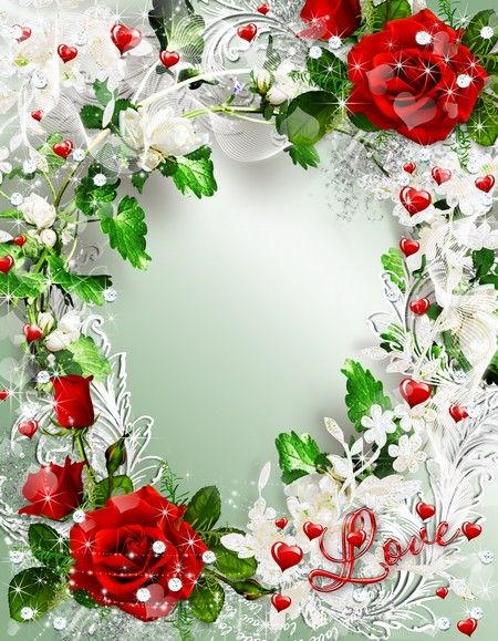 Romantic frame with red roses - Romantic story | Download ...