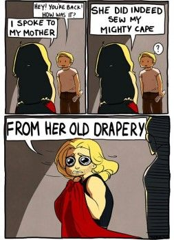 Doth Mother Know You Weareth Her Drapes Lol Marvel Fan Marvel Funny Avengers