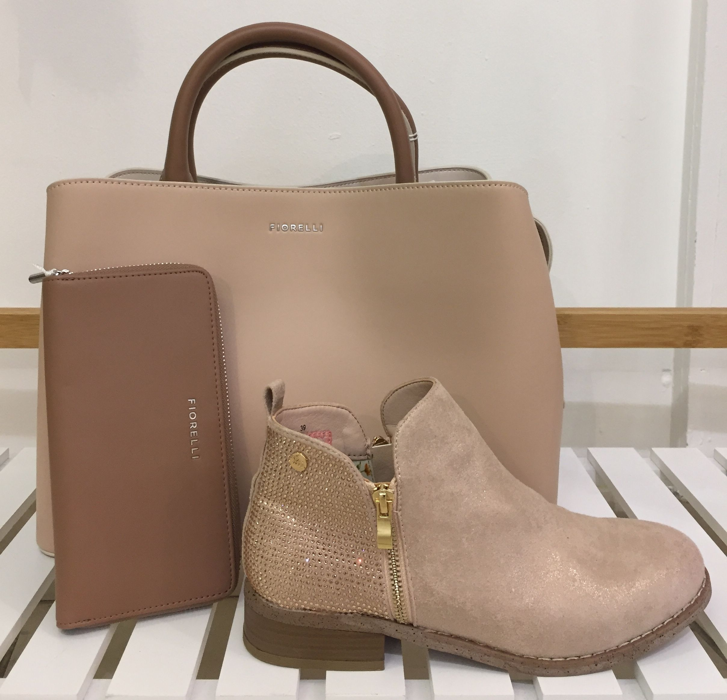 4e37f8726ce4 Fiorelli Nude Bethnal Triple Compartment Grab Bag | colourblock | nude  boots | taupe purse