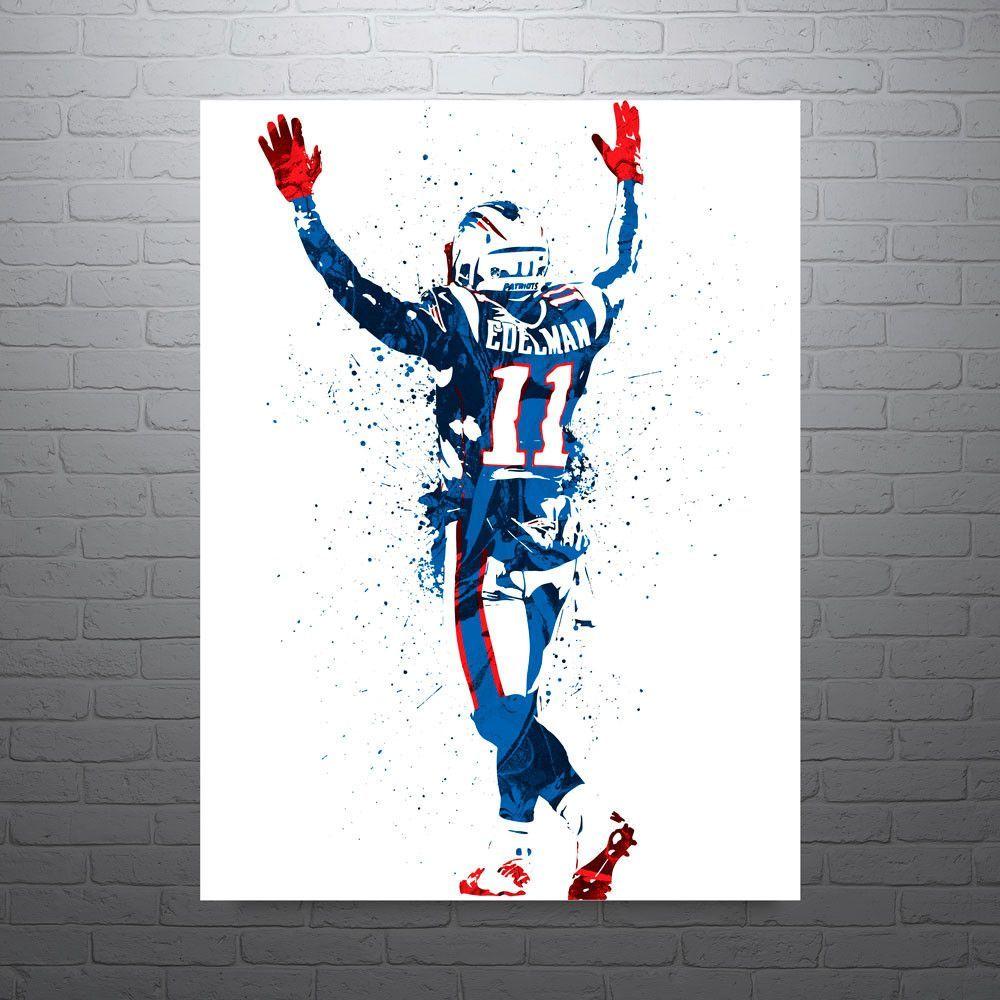Julian Edelman New England Patriots Poster Julian Edelman New England Patriots Patriots