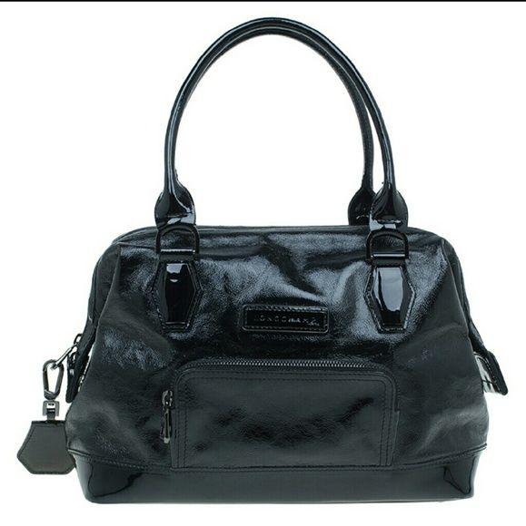 f2a1e939102f Longchamp Legende black Verni patent leather doctor bag