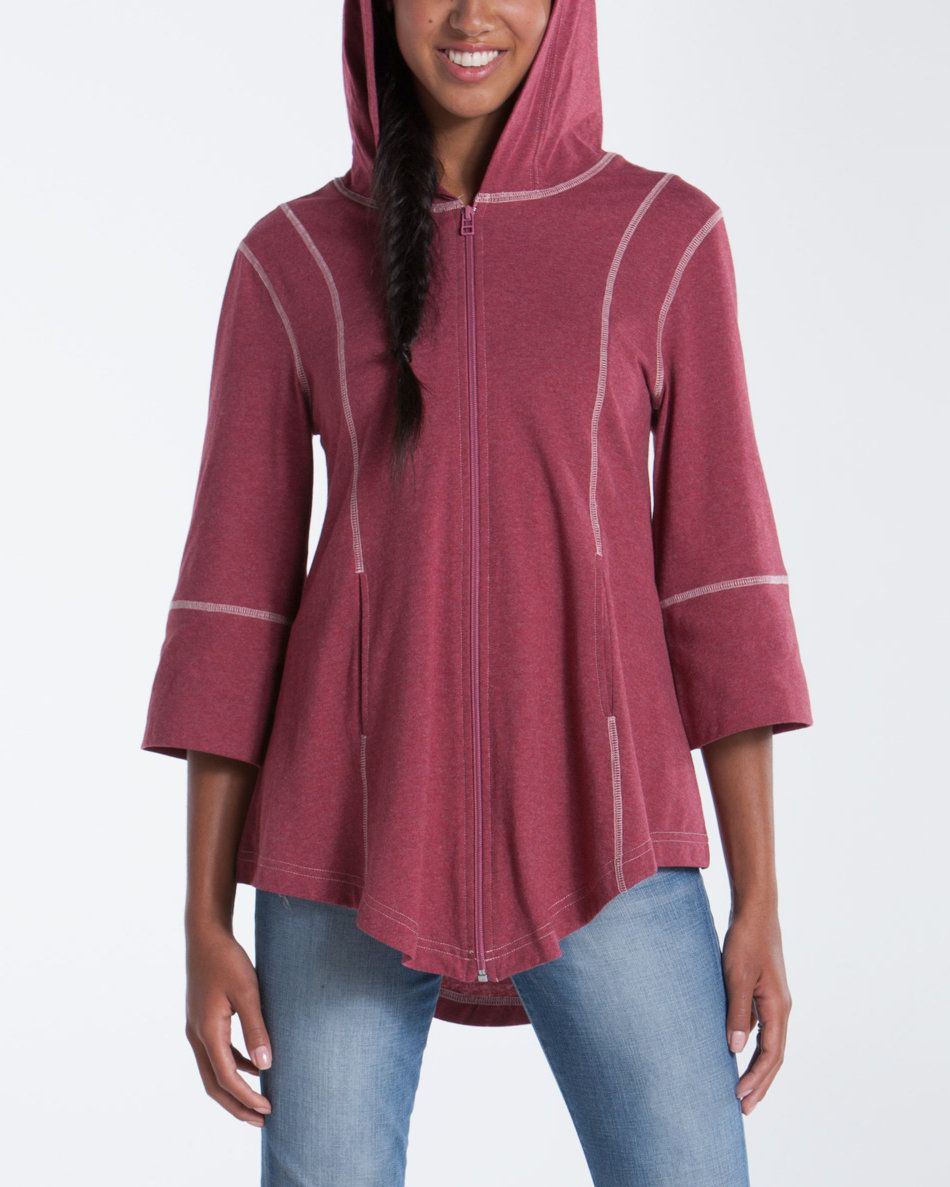 Passionflower Zip Poncho from lur apparel (56). Cozy yoga