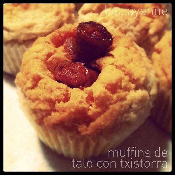 Muffins de talo con txistorra