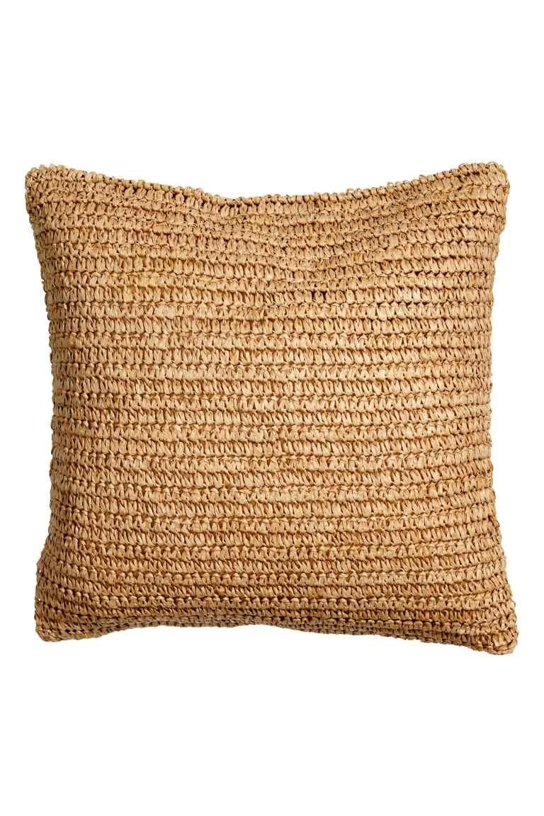 Housse de coussin en paille H&M chaise fauteuil
