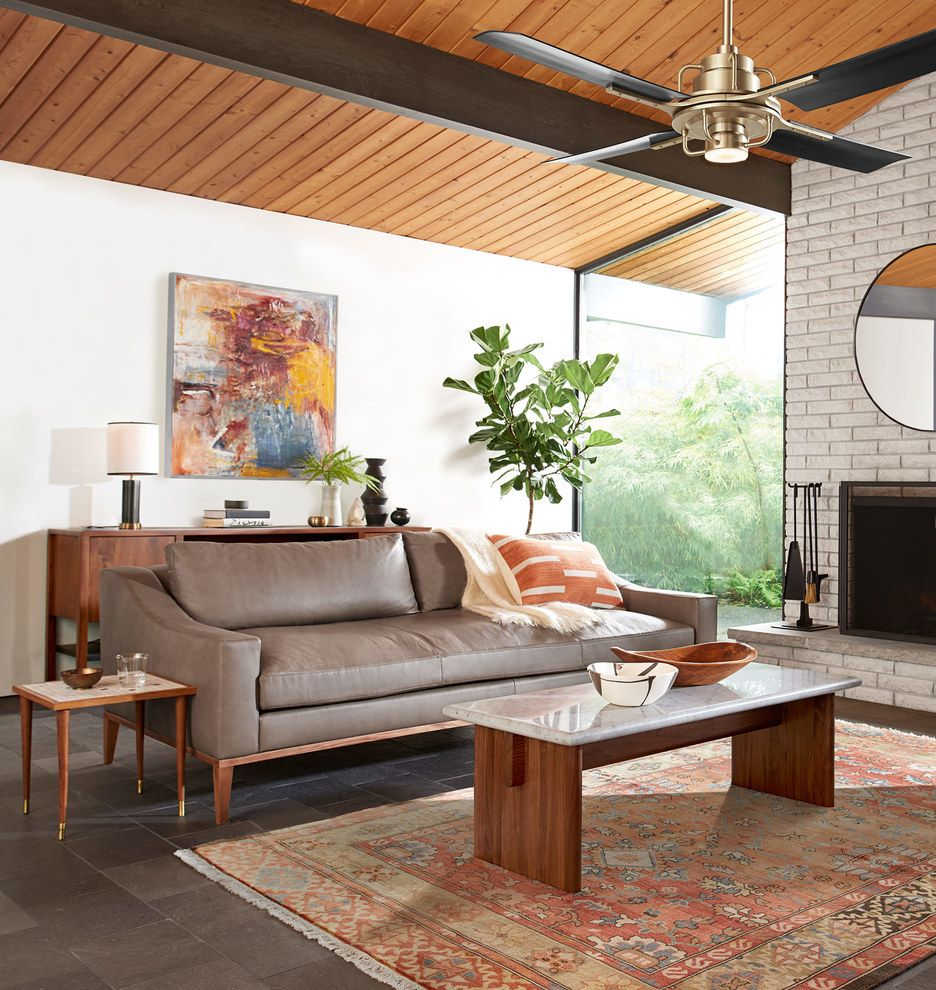 American Laurelwood Furniture: Laurelwood Leather Sofa Leather Luxe Greige D1444 In 2019
