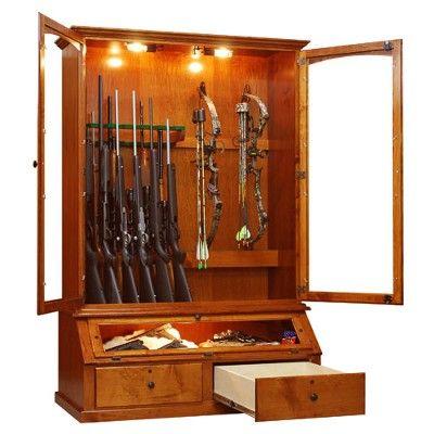 12 Gun And Bow Cabinet Handmade In Cherry Oak Pine