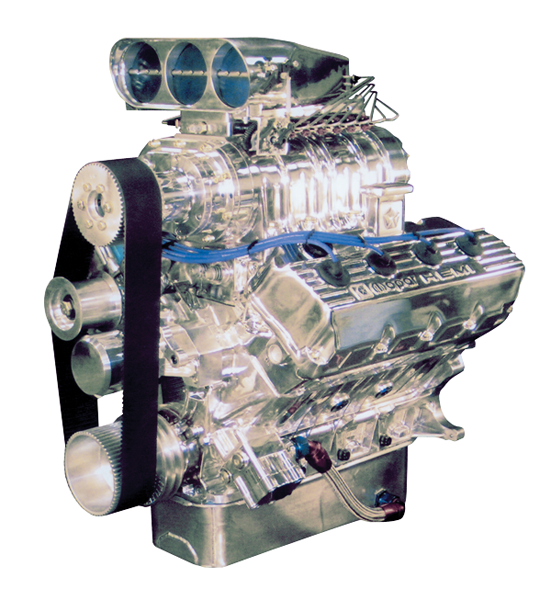 """Roots Or Centrifugal Supercharger: Mopar Hemi-Head """"RB"""""""