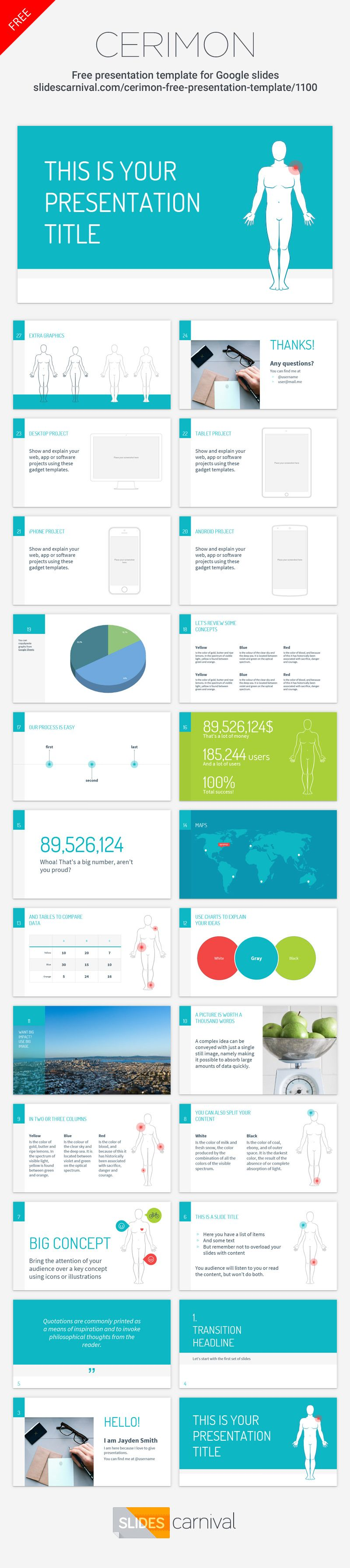 this free presentation template is designed for medical health or