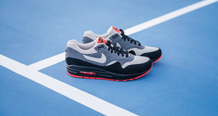 online store 36a94 f3ffd Nike Air Max 1 Leather GraniteDark Grey-Black