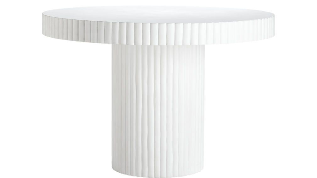 Scalloptableivory Scallop Round Dining Table Cb2 White Table