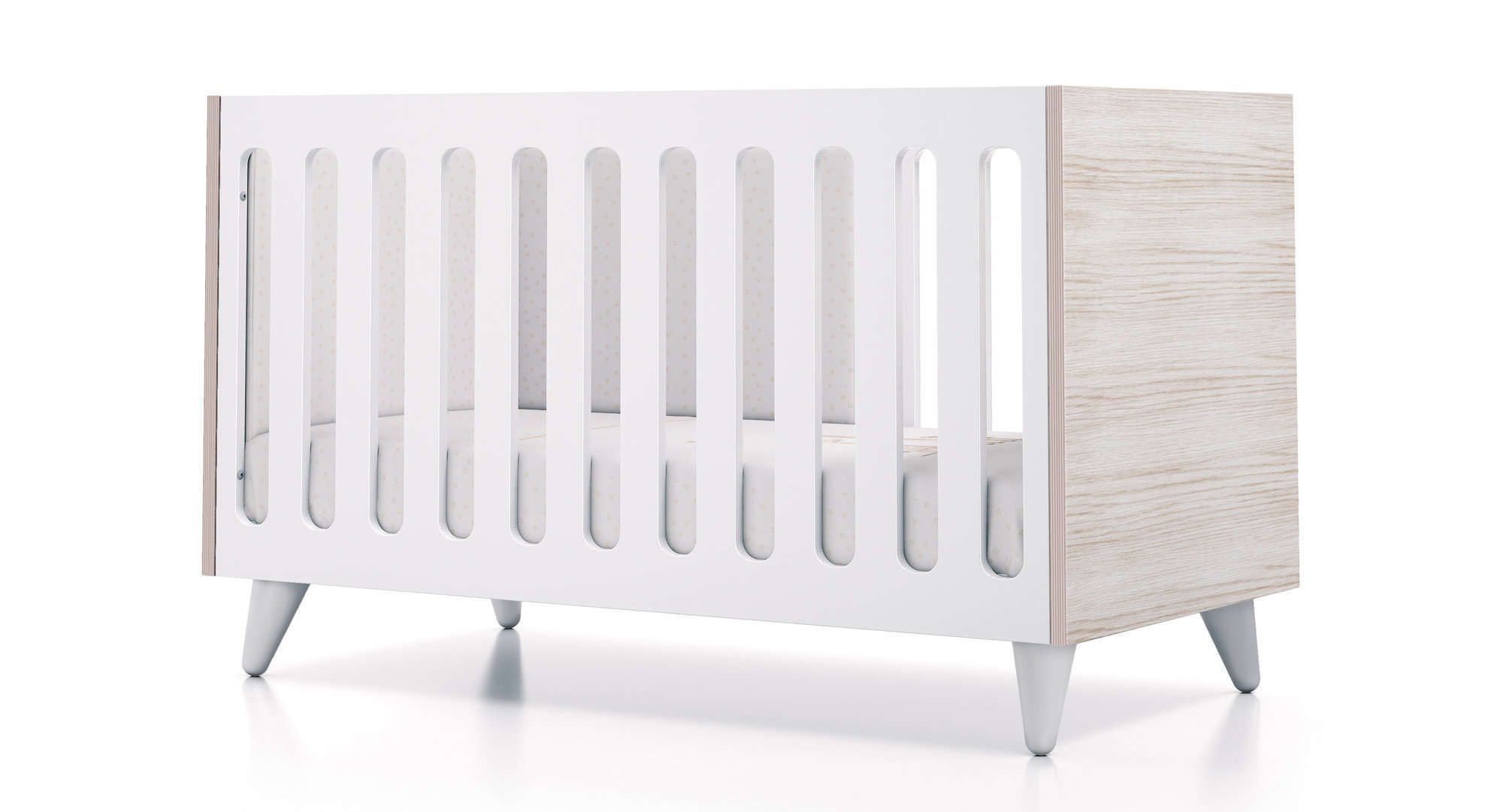 Cuna art premium de madera color blanco perfecta para - Cuna de diseno ...