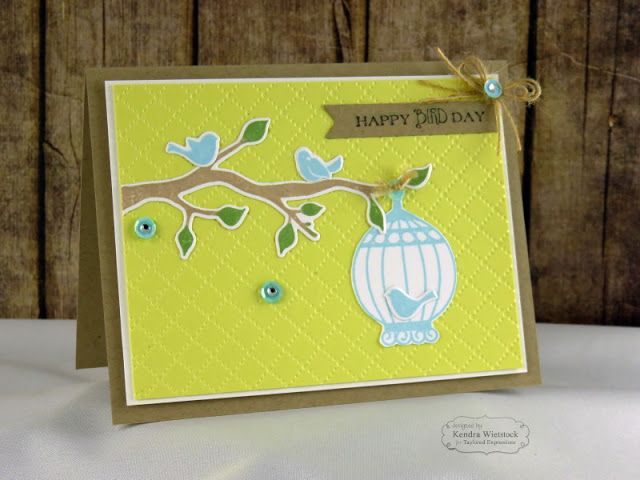 Kendra's Card Company: TE Die Focus: Birds and Branches