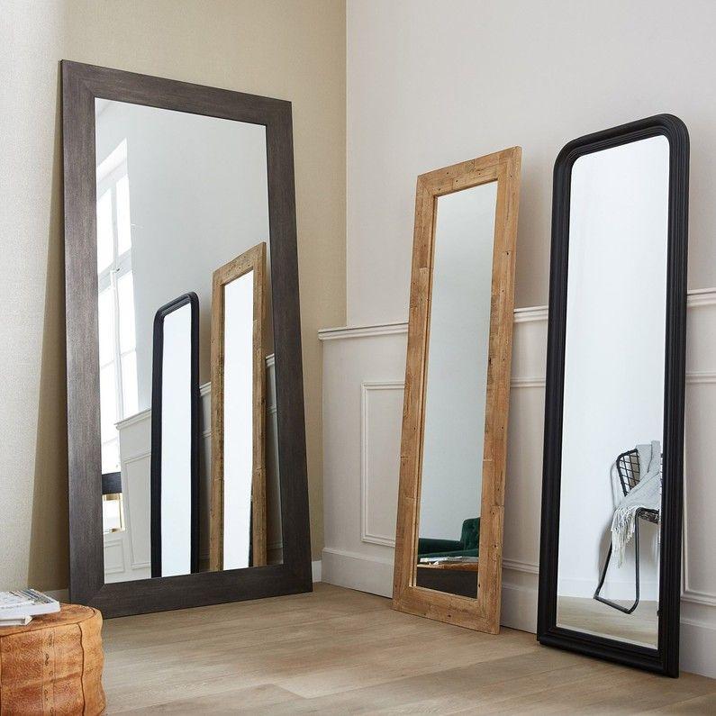 Miroir Loft Graphite L70 X H170 Cm Leroy Merlin En