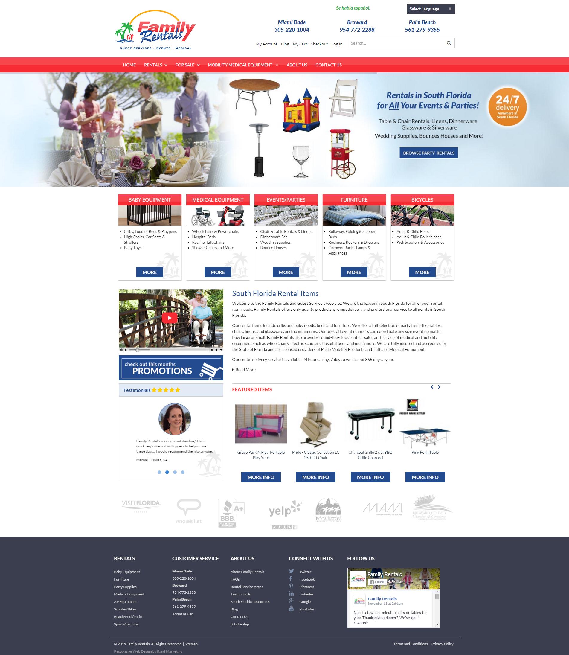 A New Responsive Website Design For Family Rentals Florida Rentals Rental Responsive Website Design