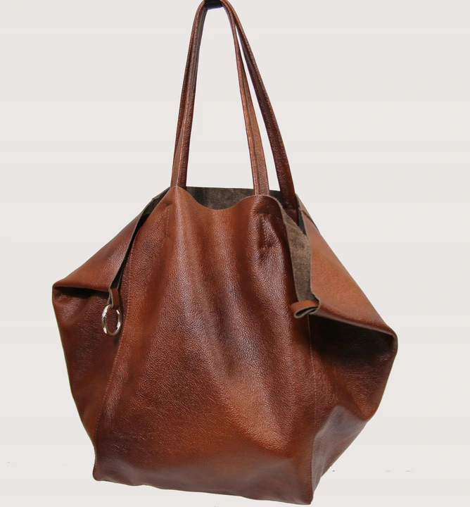 Duza Torebka Ze Skory Z Saszetka Skora Naturalna 8761759594 Oficjalne Archiwum Allegro Leather Cosmetic Bag Large Leather Tote Bag Large Leather Bag