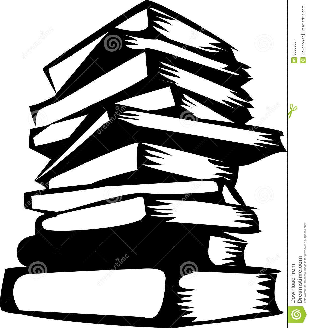 Books silhouette. Stacked use these free