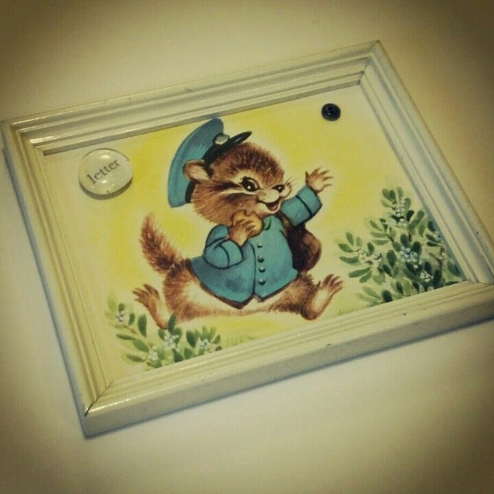 Magnet Board With Vintage Childrens Book Page Book Crafts Old