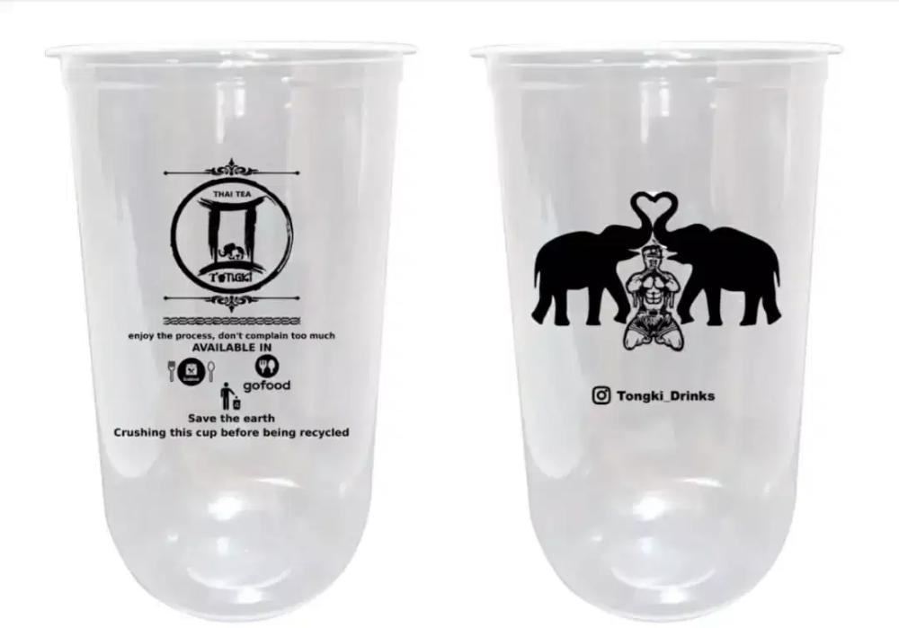 Gelas Oval Plastik Cup Pp Oval 22oz 10gram Gelas