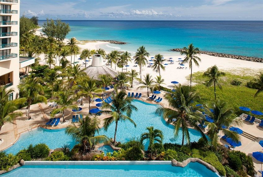 The fourstar Hilton Barbados Resort is fronted by the