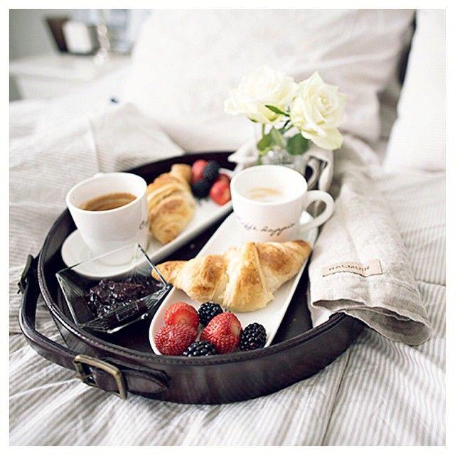 картинка поднос с кофе на утро время чешский