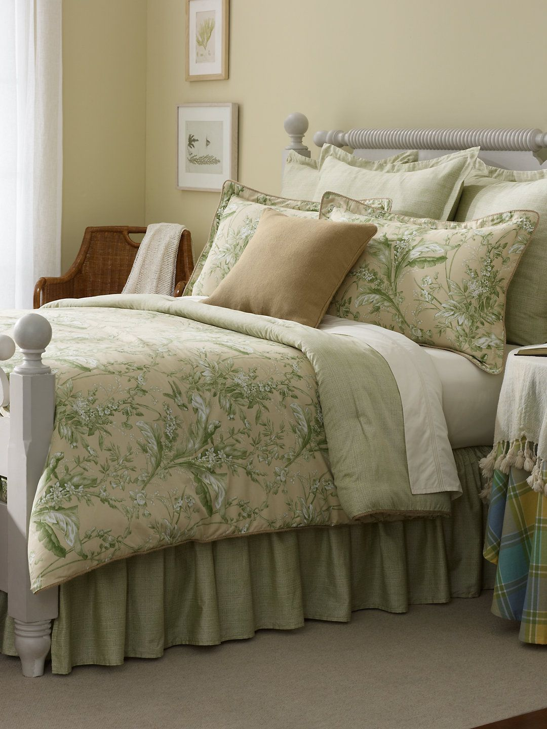 grand isle comforter ralph lauren bed linen comforters fabric pattern green cream bedroom