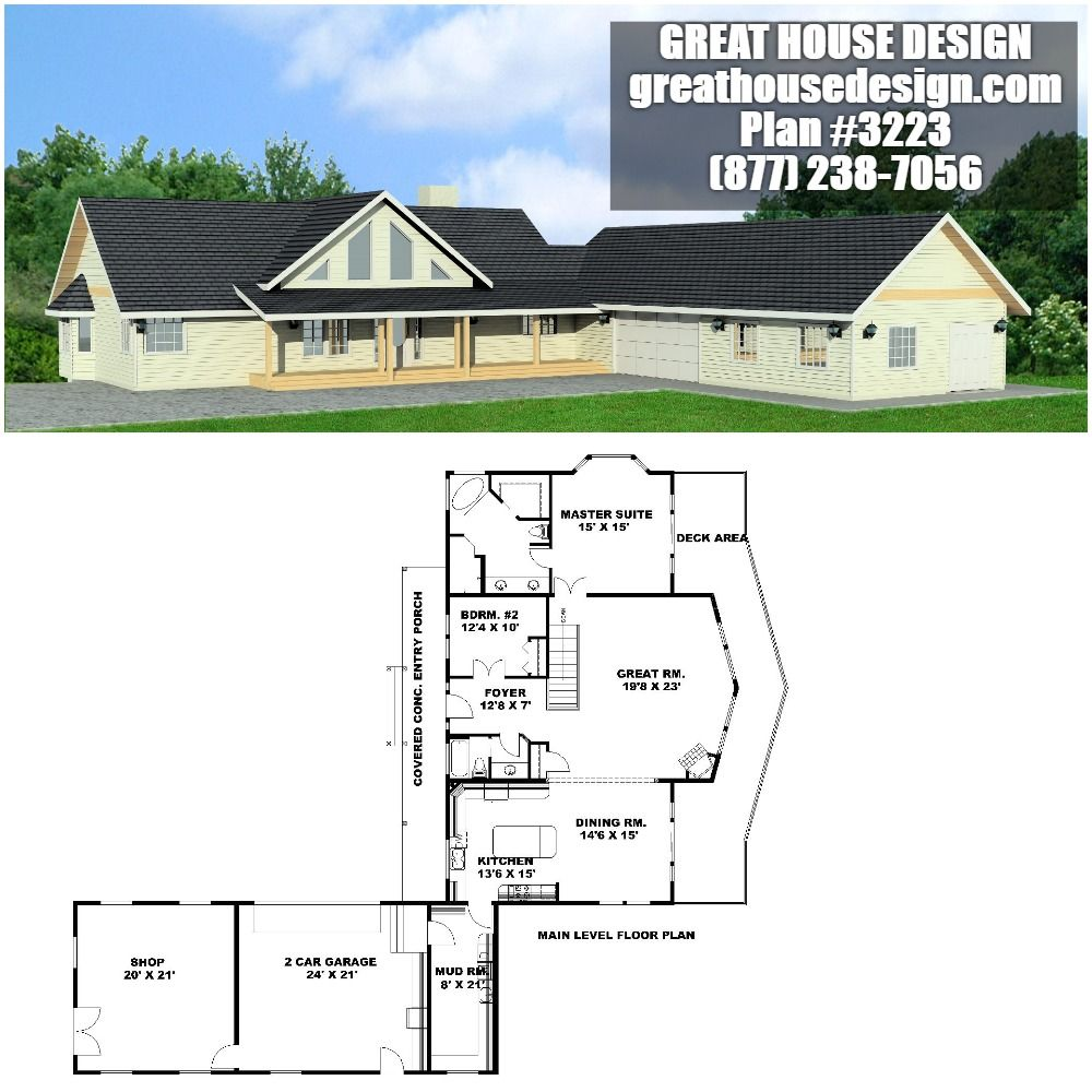 Home Plan 001 3223 Home Plan Great House Design Garage House Plans House Plans Mountain House Plans
