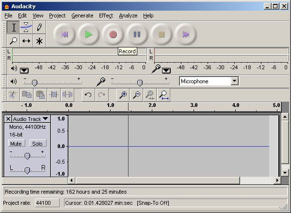 Audacity 2 0 5 (Click image to go to our download page ) Audacity is