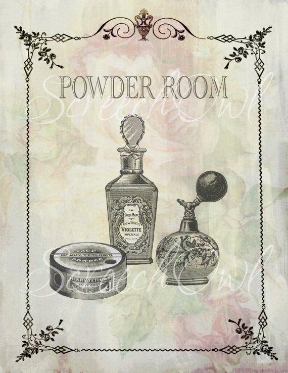 ONE DOLLAR SALE - Wall Sign, Powder Room, Bathroom, Typography