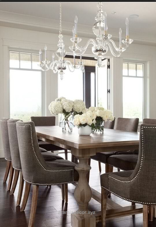 Excellent French Style | 15 Classy Home Decor Ideas For Dining Room I woould use different lighting but I love the table and chairs. The post French Style | 15 Classy Home Decor Ideas For Dinin ..