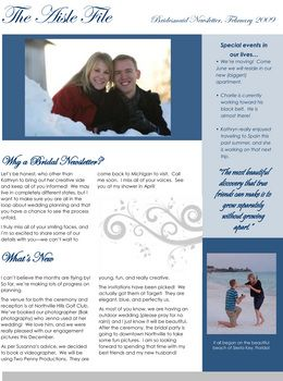 Diy Wedding Challenge Bridesmaid Newsletter Project