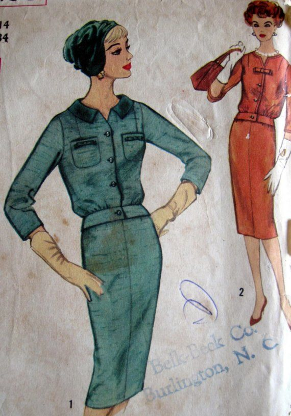 Vintage Sewing Pattern 1960s Simplicity 2728 Mad by paneenjerez, $12.00