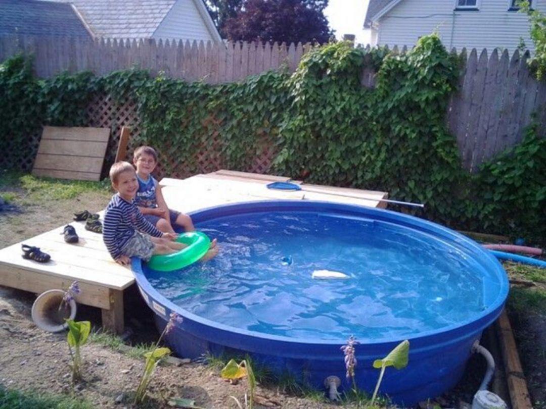 7 1 Stock Tank Pool Ideas For Your Incredible Summer Must Look Get Your Stock Tank Pool Diy Ideas Caixa De Agua Jardim Com Piscina Projeto Piscina Pequena