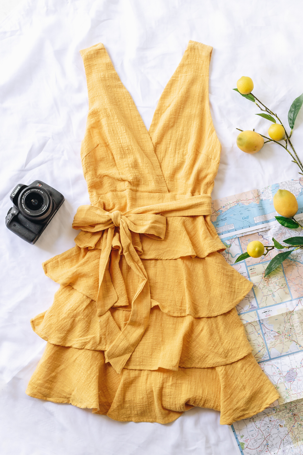 Photo of YELLOW RUFFLE DRESS