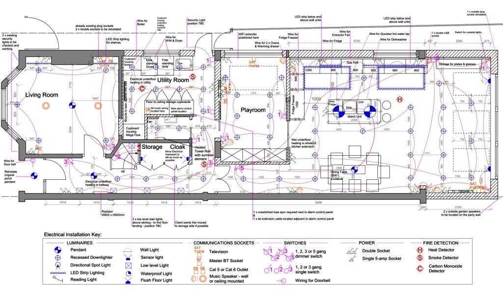 Electrical Lighting Drawings Rcp Lighting Plans