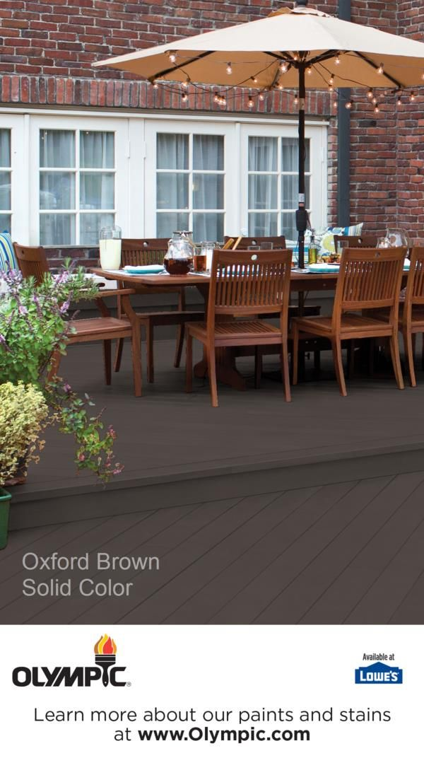 Oxford Brown Is A Part Of The Olympic Stains Solid Collection By