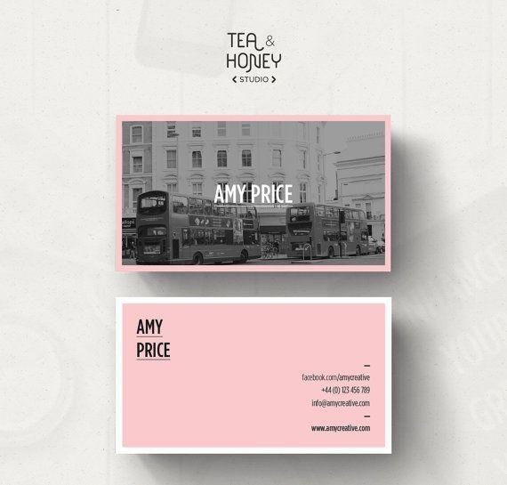 Modello Personalizzabile Business Card Carta Di Teaandhoneystudio