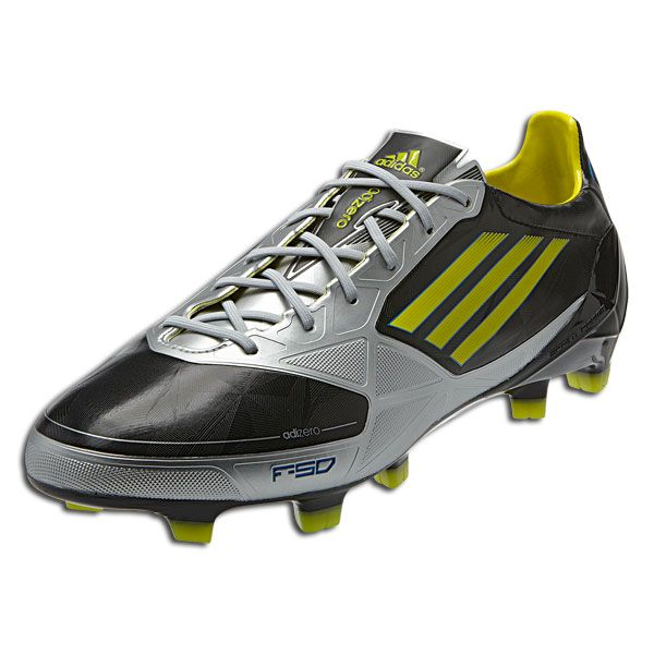 06fae2db54a adidas F50 adiZero TRX FG - Synthetic - miCoach compatible - Black Lab  Lime Metallic Silver. The adizero is one of the lightest  fastest boots