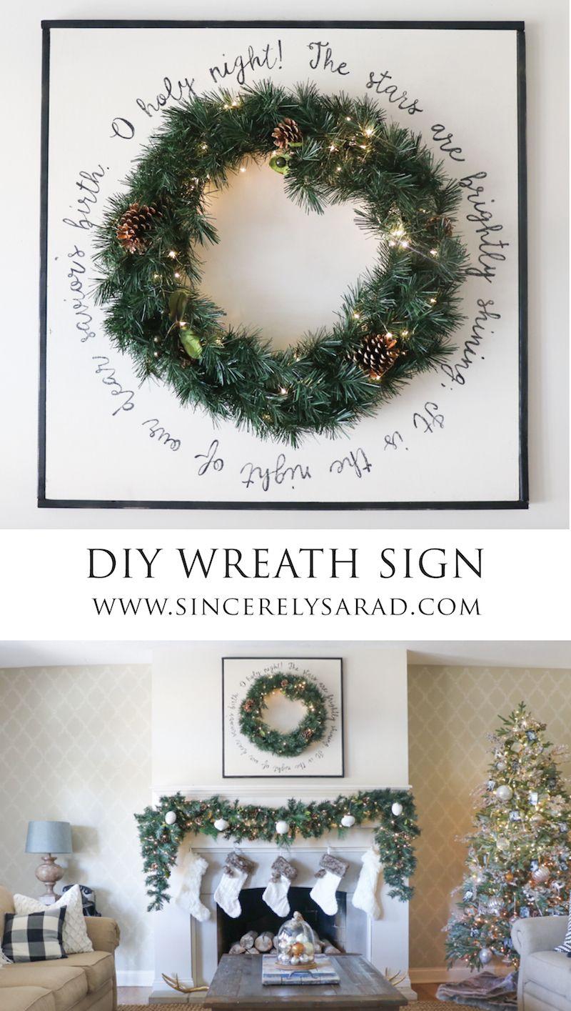 DIY Wooden Wreath Sign | CHRISTMAS LOVE | Pinterest | Diy mantel ...