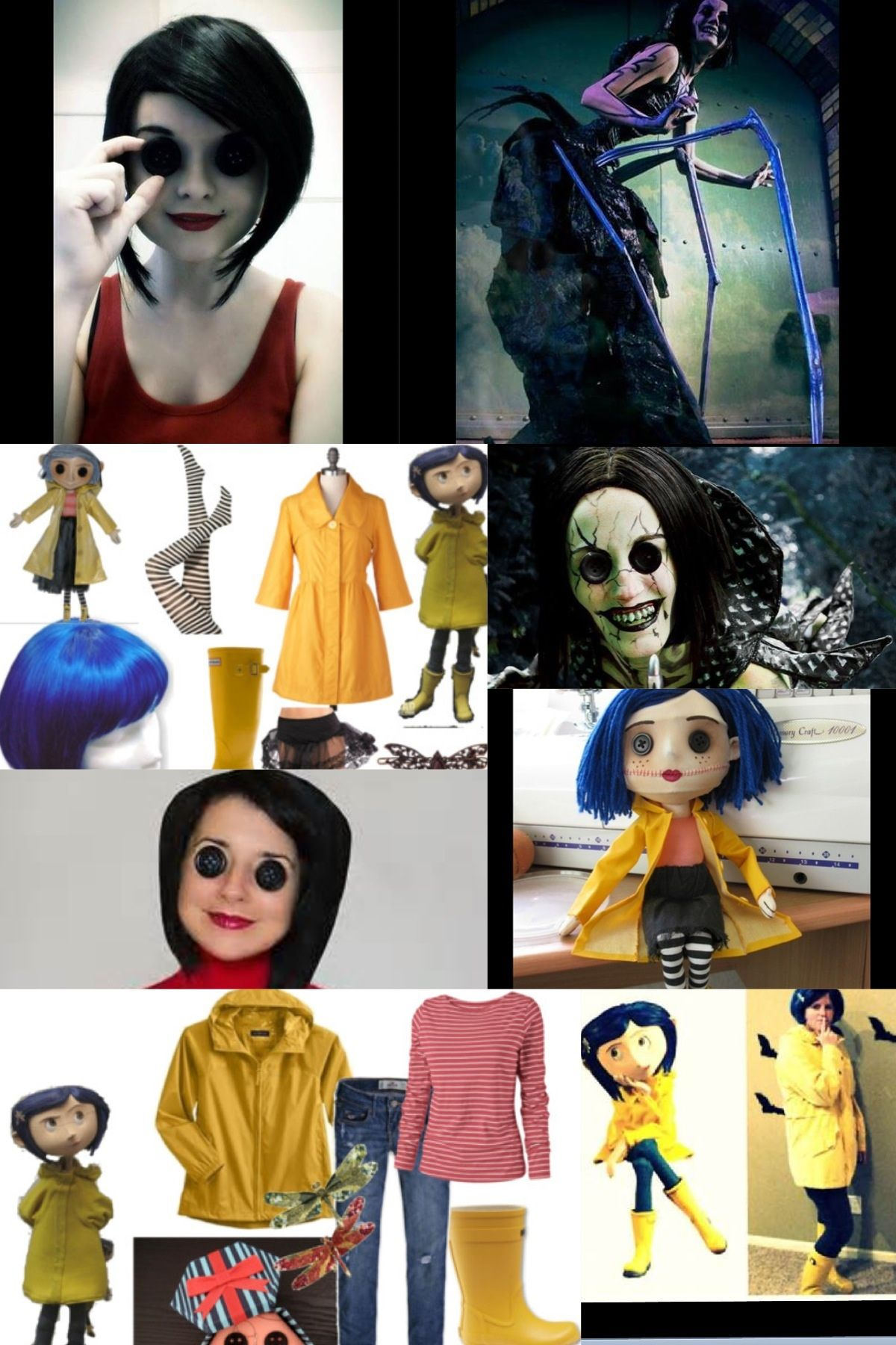 Coraline And The Other Mother Cosplay Coraline Costume Halloween Inspiration Halloween Costumes