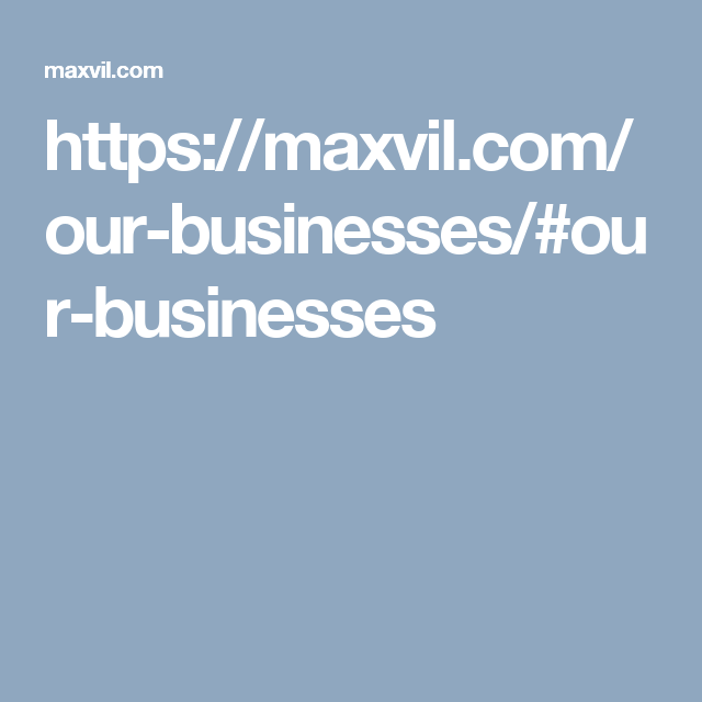 https://maxvil.com/our-businesses/#our-businesses