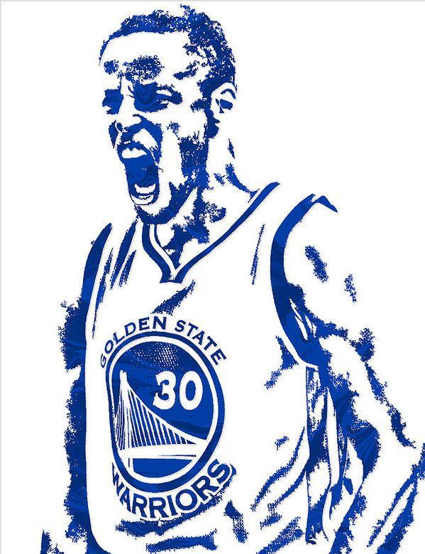 Stephen Curry Golden State Warriors Pixel Art 5 Art Print ...